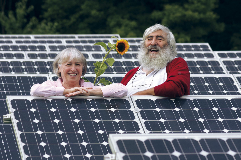 Porträt von Ursula Sladek und Dr. Michael Sladek Mitbegründer der Schönauer Energie-Initiativen